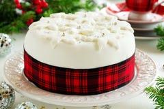 Traditional Christmas fruit cake Royalty Free Stock Image