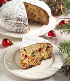 Traditional Christmas fruit cake Stock Photo