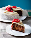 Traditional Christmas Fruit Cake pudding Royalty Free Stock Photos