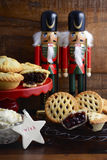 Traditional Christmas Fruit Mince Pies. Stock Photography