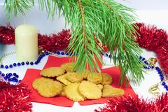 Traditional Christmas ginger cookies Royalty Free Stock Image