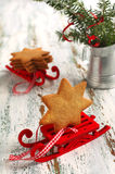 Traditional Christmas gingerbread cookie Stock Photography