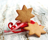 Traditional Christmas gingerbread cookie Stock Images