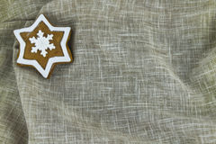 Traditional Christmas gingerbread cookie. Traditional star shape Christmas gingerbread cookie Stock Photo