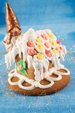 Traditional christmas gingerbread house Royalty Free Stock Images