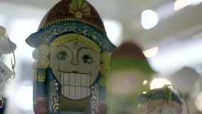 Traditional Christmas Holiday Nutcrackers. Figure. Wooden nutcracker is the image of authorities from the past such as kings, soldiers and gendarmes stock footage