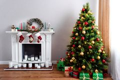Traditional Christmas house decorations royalty free stock photos