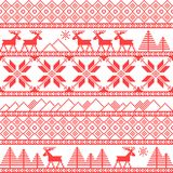 Traditional christmas knitted ornamental pattern Royalty Free Stock Images