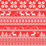 Traditional christmas knitted ornamental pattern Royalty Free Stock Photos