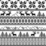 Traditional christmas knitted ornamental pattern Stock Image
