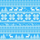 Traditional christmas knitted ornamental pattern Royalty Free Stock Photography