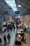Traditional Christmas market at the De Hallen event hall. Amsterdam, Netherlands - 21 November, 2015: Christmas market at the De Hallen event hall on the Stock Images