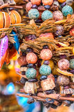 Traditional christmas market decoration, kiosk full of fruity flavours Stock Images