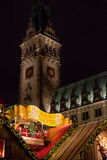 Traditional christmas market in Hamburg, Germany Stock Image