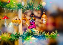 Traditional Christmas market with handmade souvenirs, Strasbourg. Alsace Stock Photos