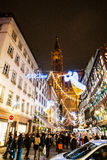 Traditional Christmas market in the historic Strasbourg France Stock Image