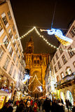 Traditional Christmas market in the historic Strasbourg France Stock Images