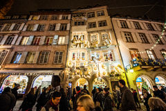 Traditional Christmas market in the historic Strasbourg France Royalty Free Stock Image
