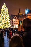 Traditional Christmas market in the historic Strasbourg France Royalty Free Stock Photography