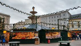 Free Traditional Christmas Market In The Historic Center Of Salzburg Royalty Free Stock Photos - 158320098