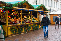 Traditional Christmas market in the old town of Potsdam. Stock Photography
