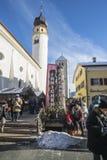 Christmas market in San Candido stock photos