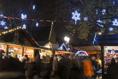 Traditional Christmas market in Strasbourg, France Stock Photography