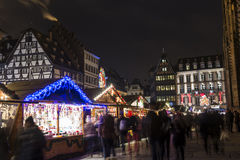 Traditional Christmas market in Strasbourg, France Royalty Free Stock Photography
