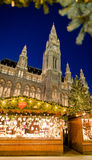 Traditional Christmas market in Vienna in front of the City Hall Royalty Free Stock Photography