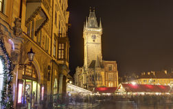 Traditional Christmas markets at Old towns square in Prague, Czech republic Royalty Free Stock Photo