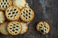 Traditional Christmas mince pies Stock Photos