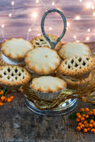 Traditional Christmas mince pies Royalty Free Stock Image