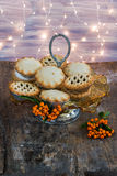 Traditional Christmas mince pies Stock Photo