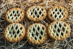 Traditional Christmas mince pies Stock Images