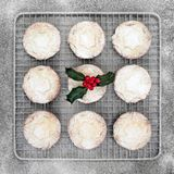 Traditional Christmas Mince Pies royalty free stock photography