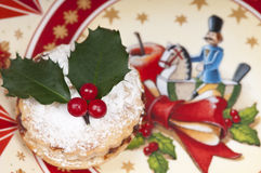 Traditional Christmas mincepie. Royalty Free Stock Image