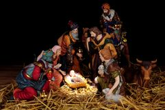 Traditional Christmas Nativity Scene Royalty Free Stock Image