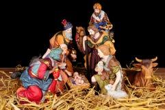 Traditional Christmas Nativity Scene Royalty Free Stock Photos