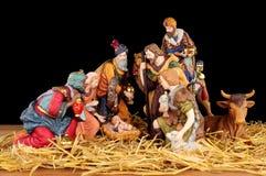 Traditional Christmas Nativity Scene Stock Photos
