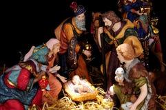 Traditional Christmas Nativity Scene Royalty Free Stock Photography