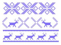 Traditional Christmas ornament with deers for warm winter clothes. Traditional Christmas ornament with deers and geometrical shapes for warm winter clothes Royalty Free Stock Photo