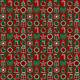Traditional Christmas Pattern Royalty Free Stock Photos