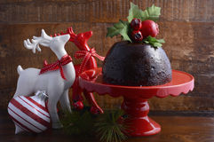 Traditional Christmas Plum Pudding Royalty Free Stock Images