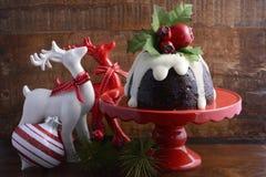 Traditional Christmas Plum Pudding Stock Image