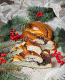 Traditional  Christmas poppy seed cake Stock Image