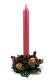 Traditional Christmas red candle Royalty Free Stock Images