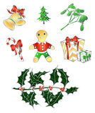Traditional Christmas`s set Stock Image