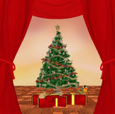 Traditional christmas scene. Beautiful traditional and very detailed christmas scene Royalty Free Stock Photography