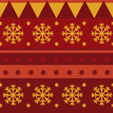 Traditional Christmas seamless pattern Stock Images