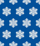Traditional Christmas Seamless Pattern with Isometric 3D Snowflake Royalty Free Stock Photo